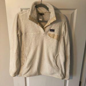 Patagonia plush pullover Cream color Large